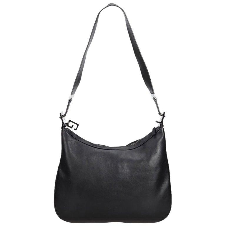 8033bba0 Gucci Black Leather Shoulder Bag Italy w/ Dust Bag