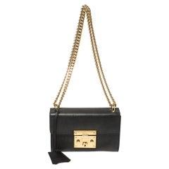 Gucci Black Leather Small Padlock Shoulder Bag