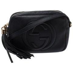 Gucci Black Leather Small Soho Disco Crossbody Bag