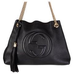 GUCCI black leather SOHO MEDIUM Shoulder Bag
