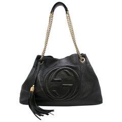 Gucci Black Leather Soho Shopper Bag