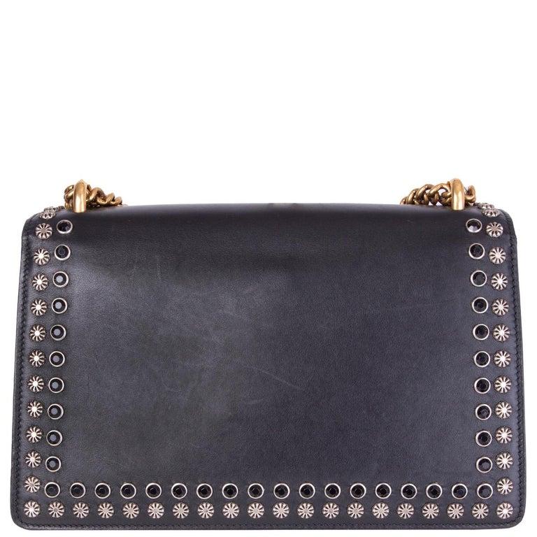 Black GUCCI black leather STUDDED DIONYSUS SMALL Shoulder Bag For Sale