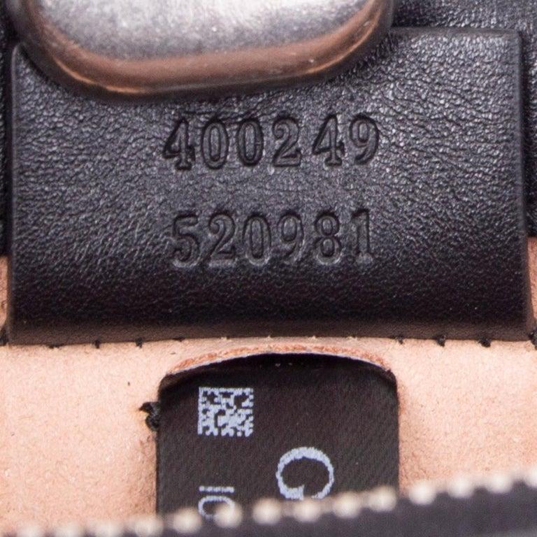 GUCCI black leather STUDDED DIONYSUS SMALL Shoulder Bag For Sale 1