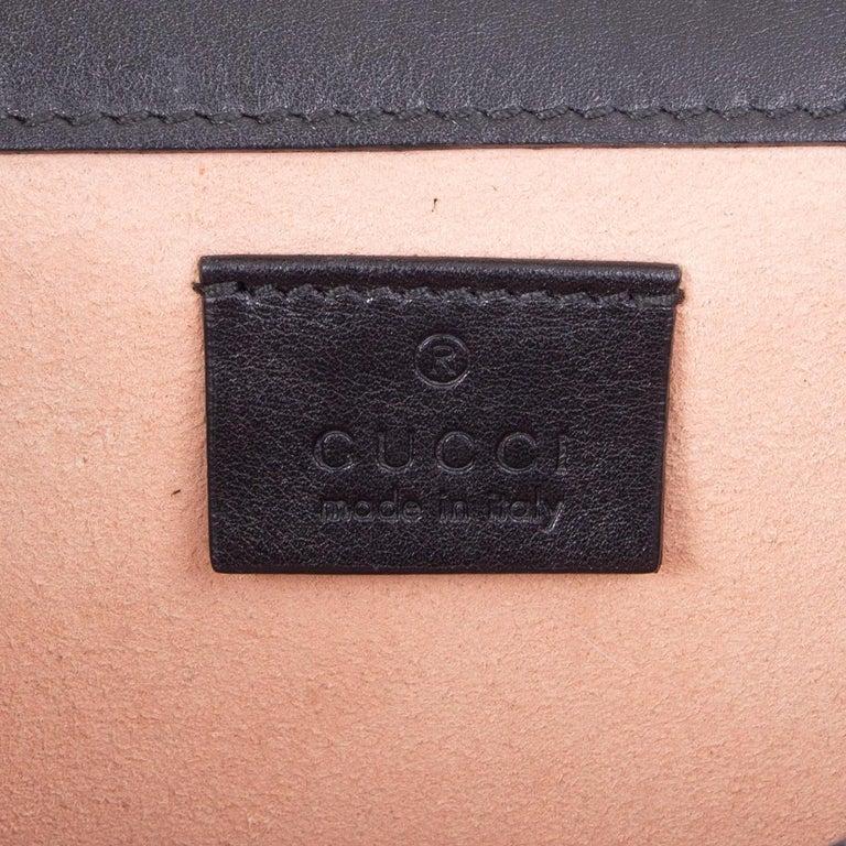 GUCCI black leather STUDDED DIONYSUS SMALL Shoulder Bag For Sale 2