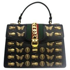 Gucci Black Leather Sylvie Bag