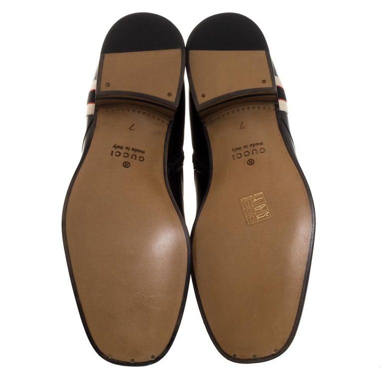 Women's Gucci Black Leather Zipper Detail Boots Size 41 For Sale