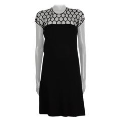 GUCCI black MESH LACE TOP Cocktail Dress L