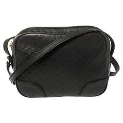 Gucci Black Microguccissima Leather Bree Crossbody Bag
