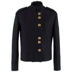 Gucci Black Military Wool Jacket IT 40