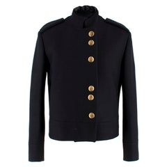 Gucci Black Military Wool Jacket XS 40
