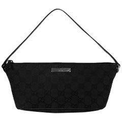 Gucci Black Monogram Pochette Bag