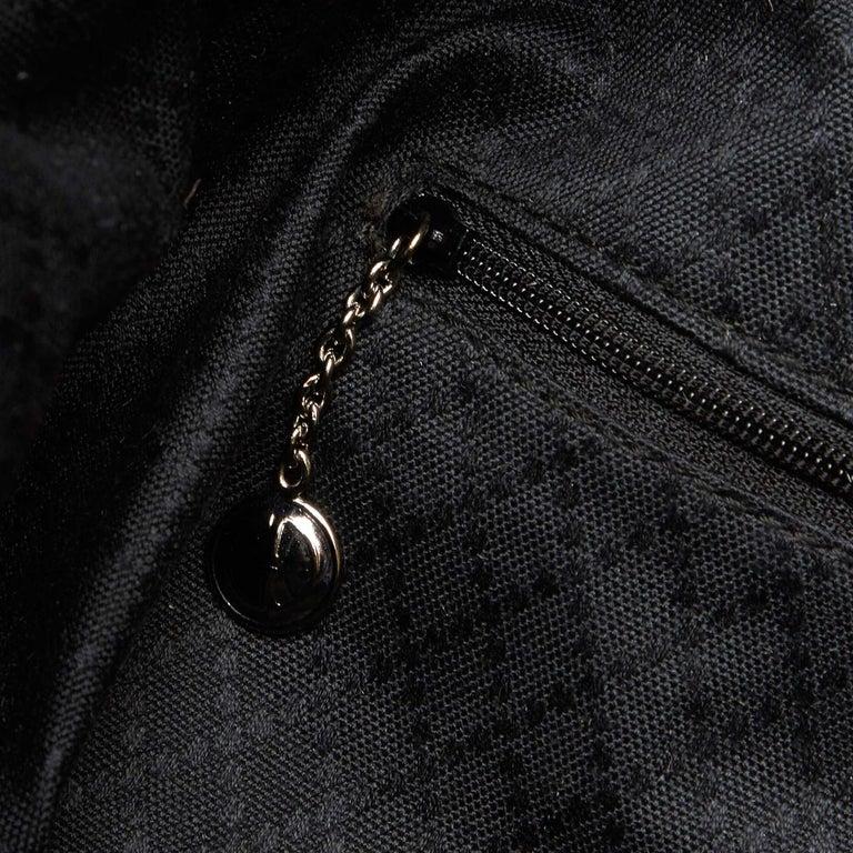 Gucci Black Nylon Bamboo Handbag For Sale 4