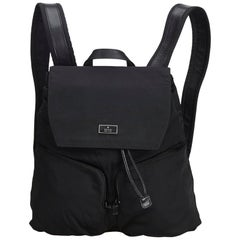 Gucci Black Nylon Drawstring Backpack