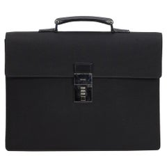 Gucci Black Nylon Fabric Business Bag Italy