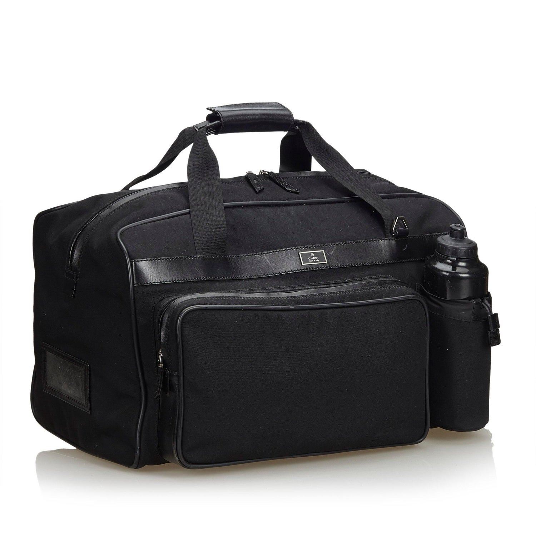 a0b2b250187 Gucci Black Nylon Fabric Duffle Bag Italy at 1stdibs