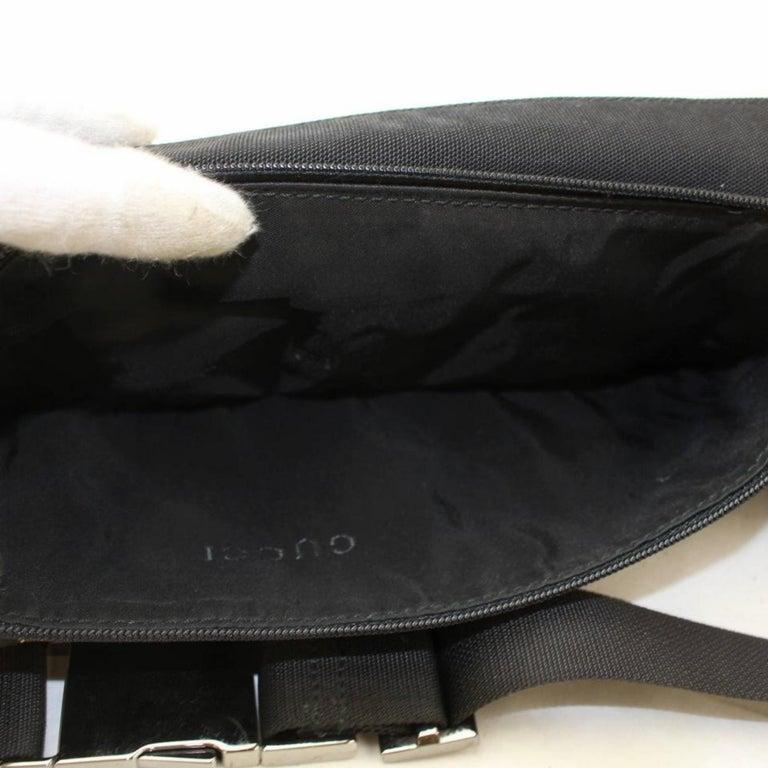 8e6b1eb030e Gucci Black Nylon Logo Fanny Pack Waist Pouch Bag 868712 Belt For Sale 7