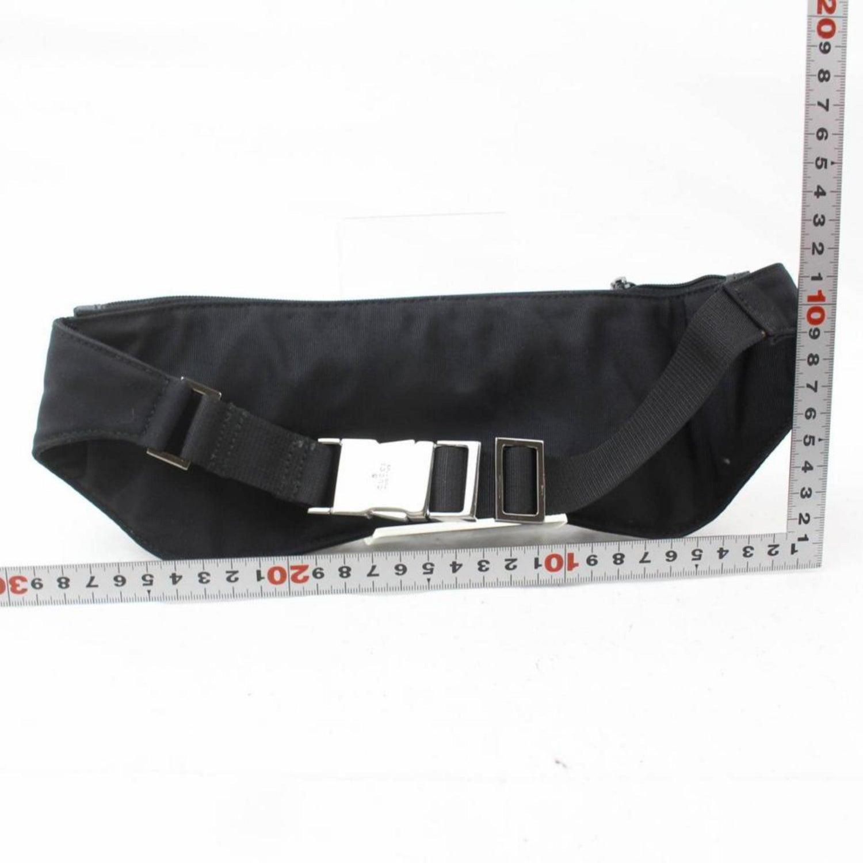 a0735fbd36d Gucci Black Nylon Logo Fanny Pack Waist Pouch Bag 868712 Belt For Sale at  1stdibs