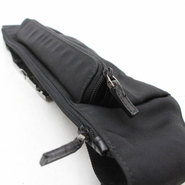 7ff736c6c37 Gucci Black Nylon Logo Fanny Pack Waist Pouch Bag 868712 Belt For Sale at  1stdibs