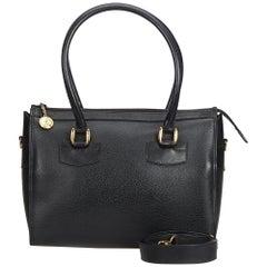 Gucci Black Old Gucci Leather Boston Bag