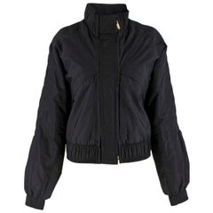 Gucci Black Padded Pleated Bomber Jacket estimated SIZE L