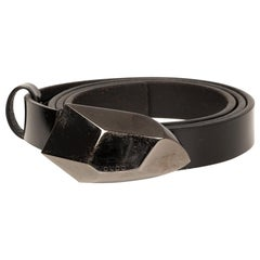 Gucci Black Patent Leather Belt with Logo Buckle (Size 85/34)