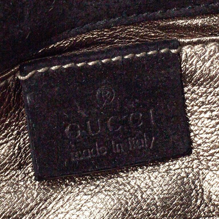 Gucci Black Patent Leather Hysteria Clutch For Sale 2