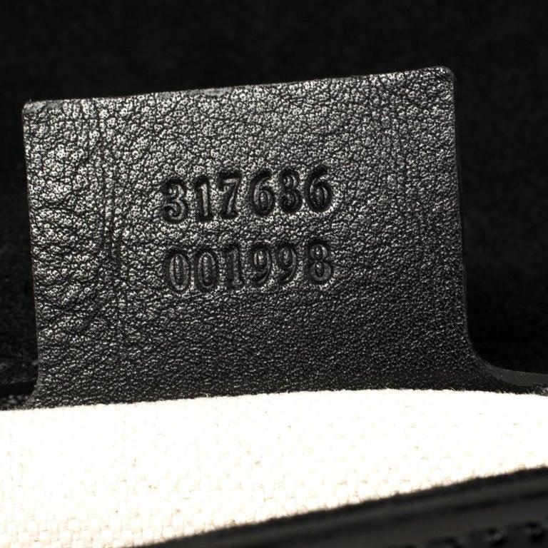 Gucci Black Patent Leather Large Bright Bit Shoulder Bag For Sale 6
