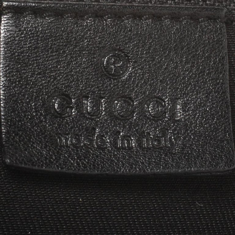 Gucci Black Patent Leather Large D Ring Hobo For Sale 6