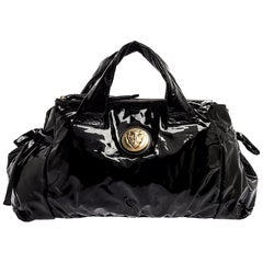 Gucci Black Patent Leather Large Hysteria Tote