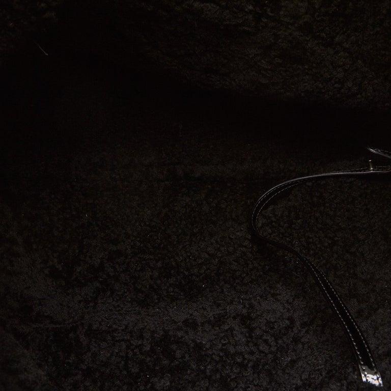 Gucci Black Patent Leather Leather Soho Cellarius Mouton Tote Italy 1