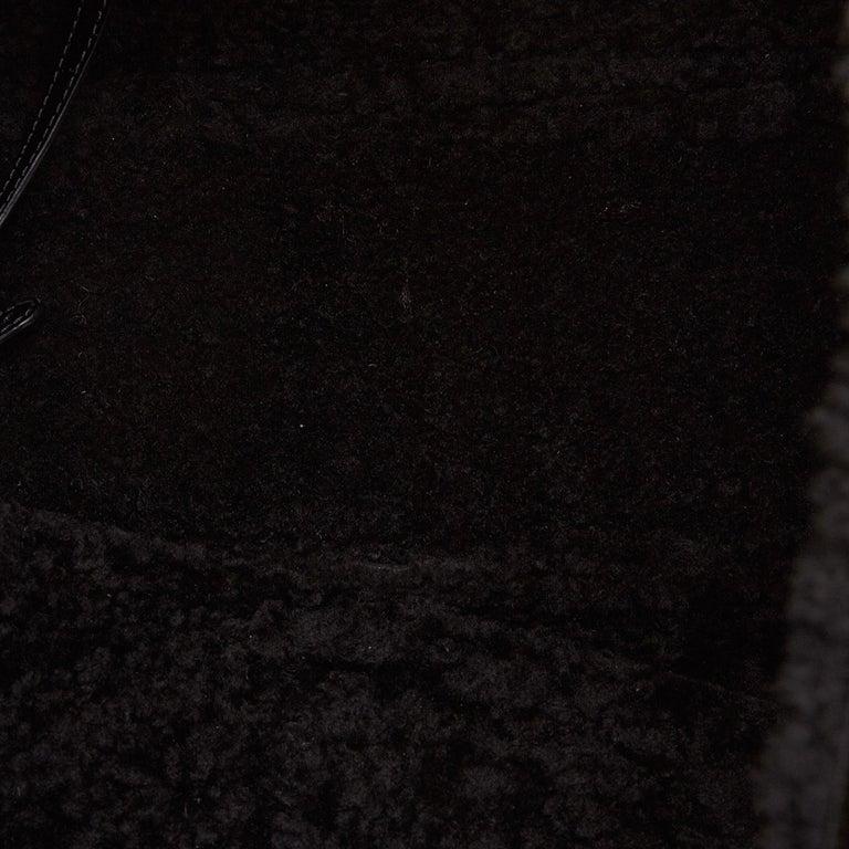 Gucci Black Patent Leather Leather Soho Cellarius Mouton Tote Italy 4