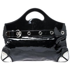 Gucci Black Patent Leather Romy Tote