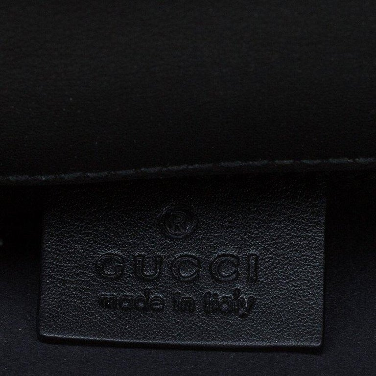 Gucci Black Patent Leather Tempered Glass Broadway Clutch For Sale 5