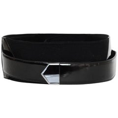 Gucci Black Patent Wrap Belt sz 34 rt $750