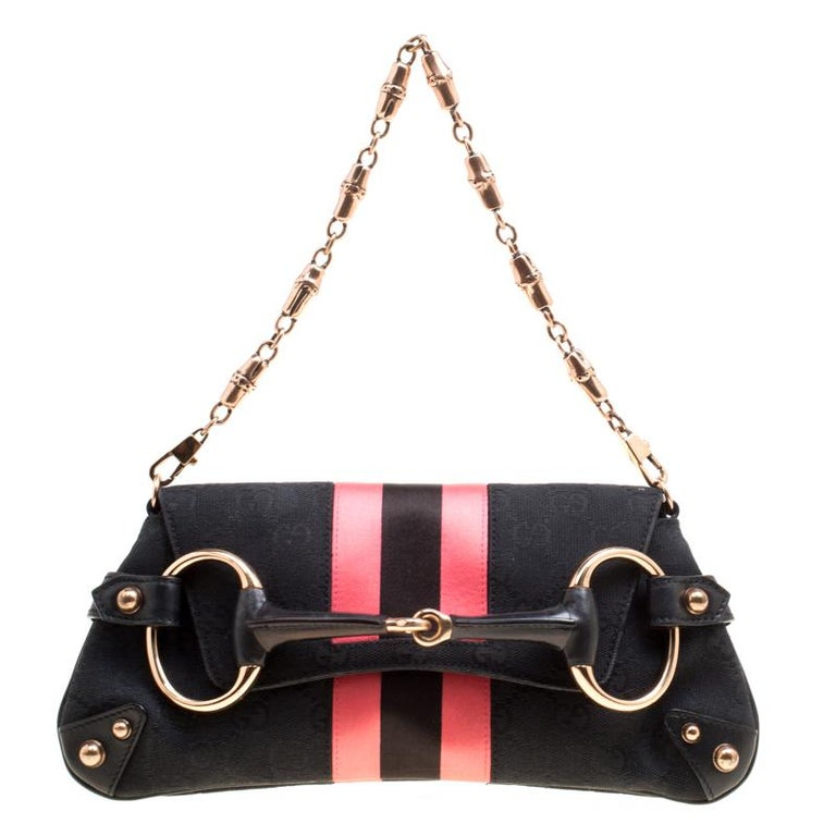 8a28dbf76769 ... Gucci Black Pink GG Canvas and Satin Small Limited Edition Tom Ford
