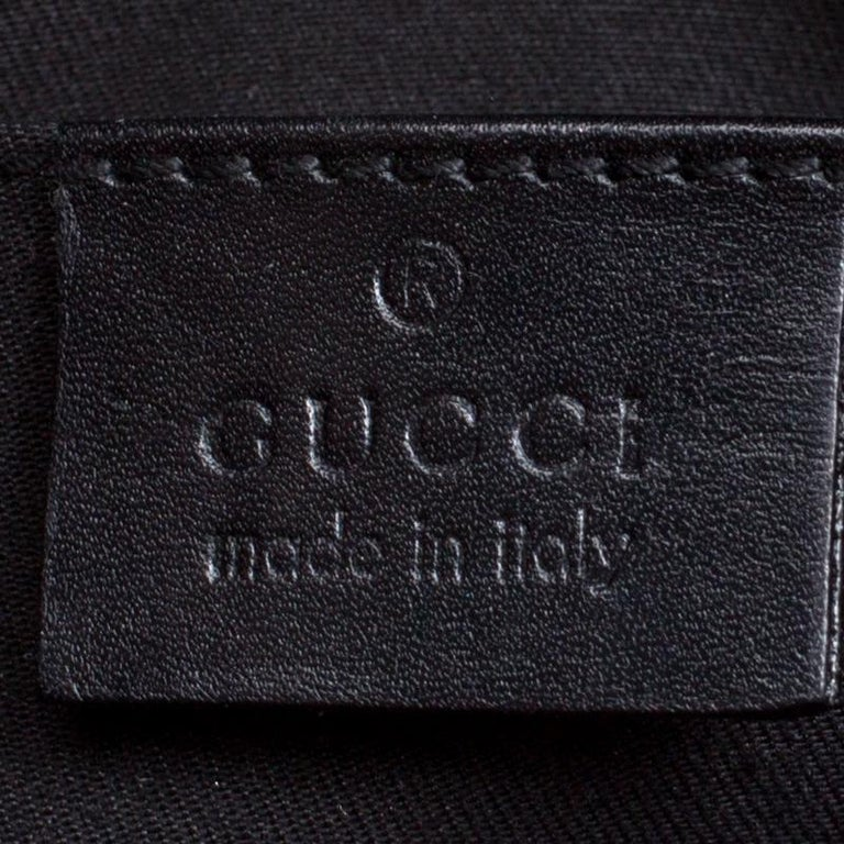 Gucci Black/Pink GG Canvas and Satin Small Limited Edition Web Chain Clutch For Sale 3