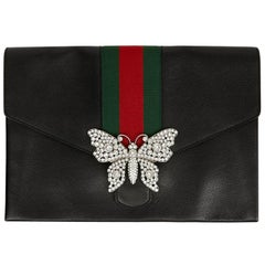 Gucci Black Pouch with Butterfly