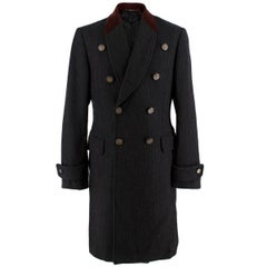 Gucci Black & Red Wool Double Breasted Coat - Us size 6
