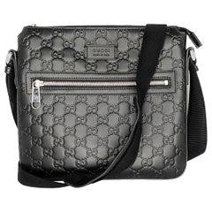 Gucci Black Signature Small Messenger Bag