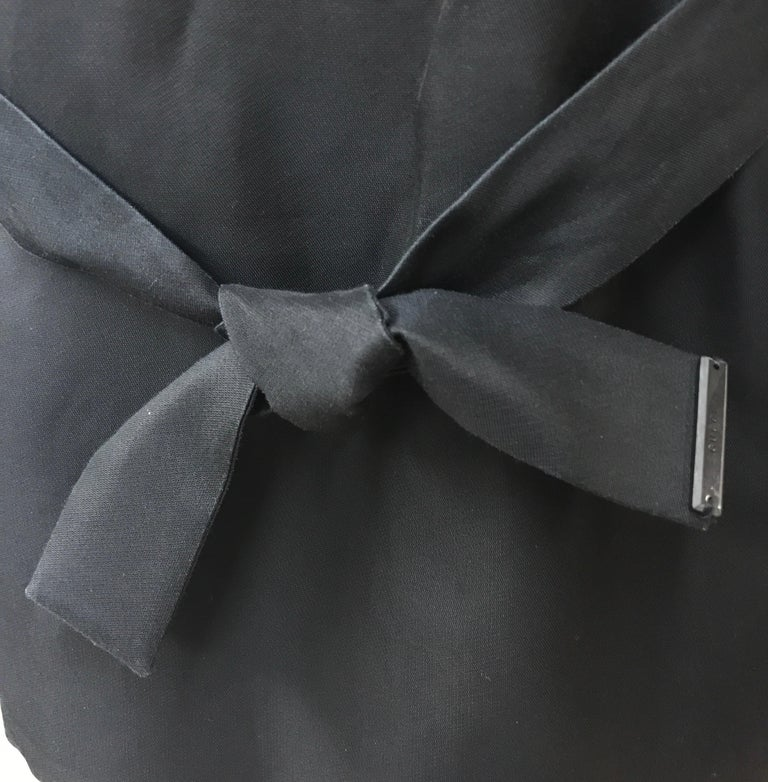 Women's Gucci Black Silk Cape Jacket-42 For Sale