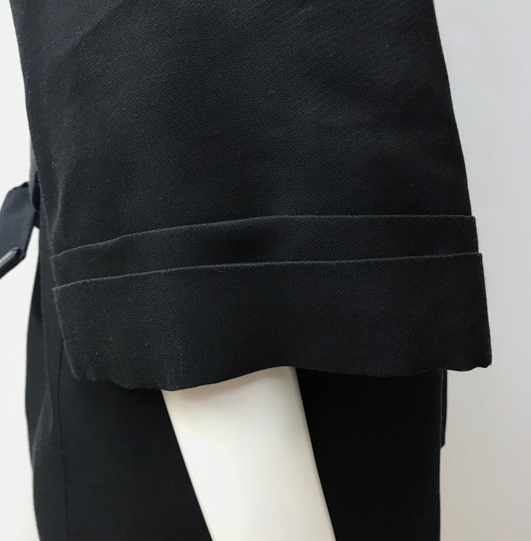 Gucci Black Silk Cape Jacket-42 For Sale 1