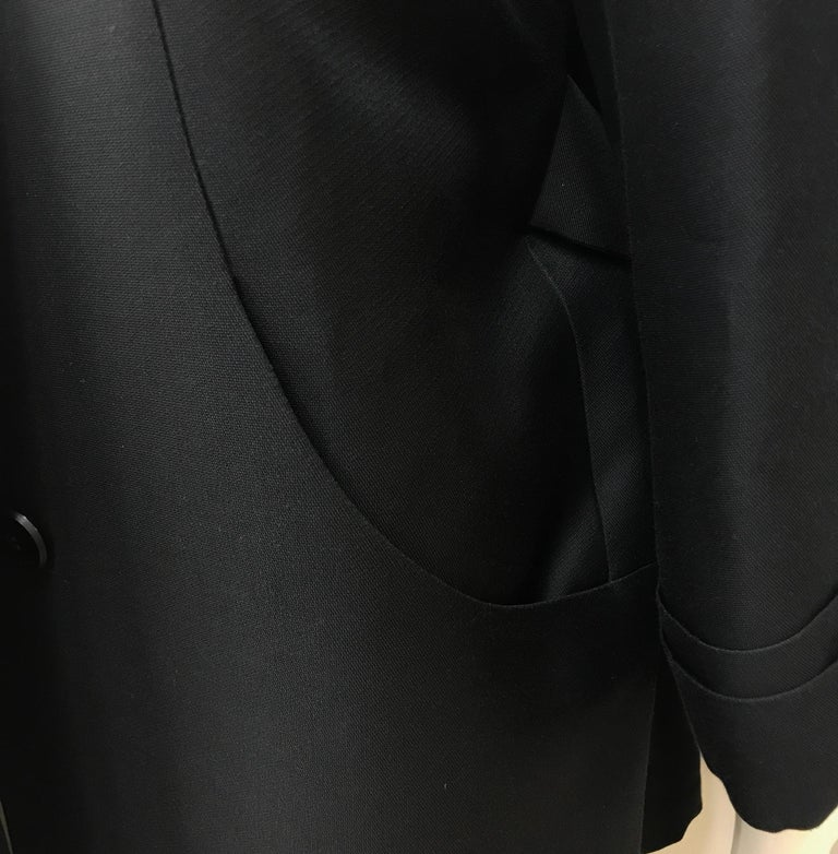 Gucci Black Silk Cape Jacket-42 For Sale 2