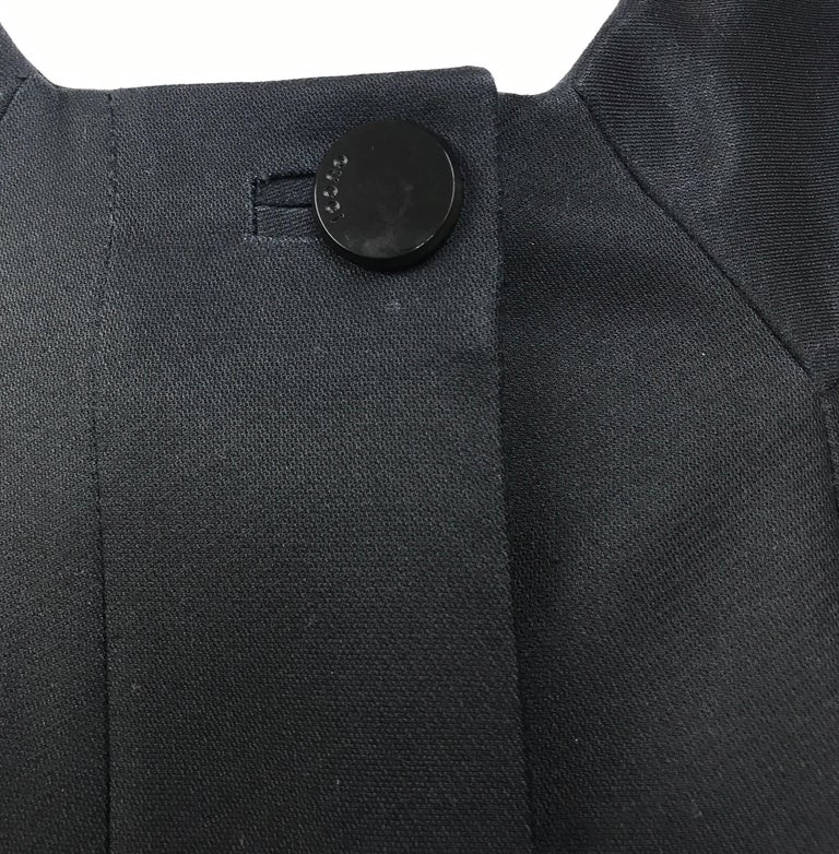 Gucci Black Silk Cape Jacket-42 For Sale 3