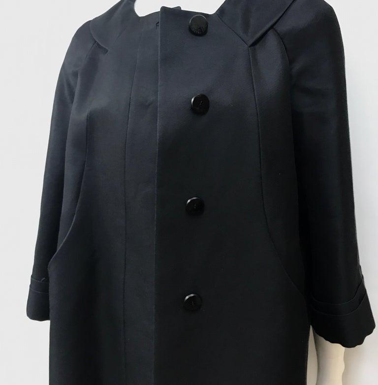 Gucci Black Silk Cape Jacket-42 For Sale 4