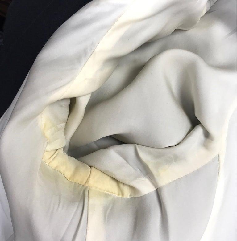 Gucci Black Silk Cape Jacket-42 For Sale 5