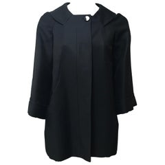 Gucci Black Silk Cape Jacket-42