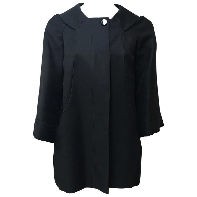 Gucci Black Silk Cape Jacket-42 For Sale