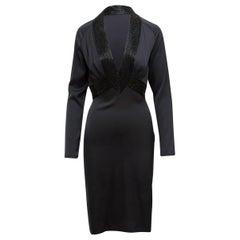 Gucci Black Silk Embellished Dress
