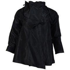 Gucci Black Silk Long Sleeve Kimono Style Top Sz 40