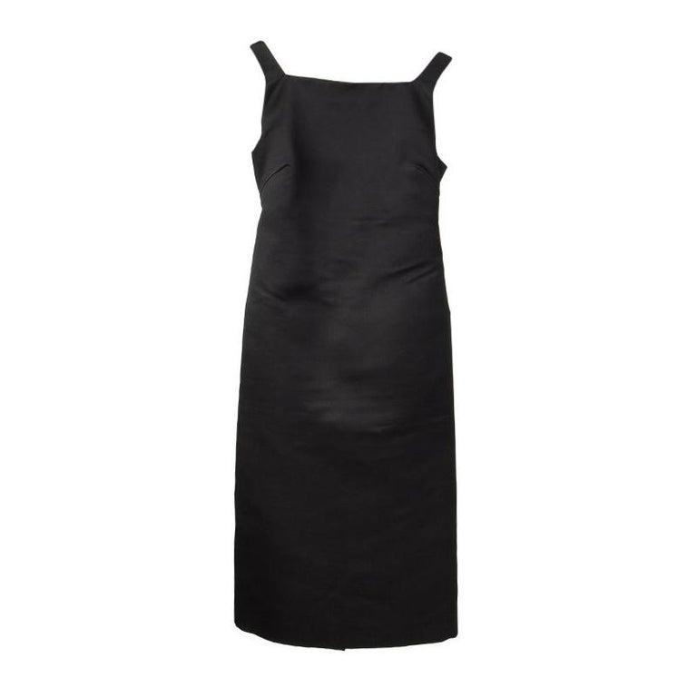 GUCCI black silk OPEN BACK Cocktail Dress 38 For Sale